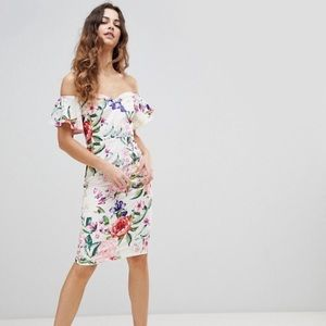 Floral Printed Pencil Dress